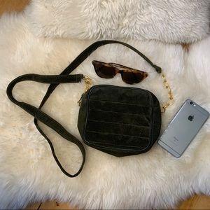 DANIER vintage suede crossbody purse